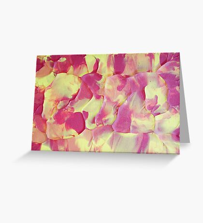 """""""Wildfire"""" original abstract artwork by Laura Tozer Greeting Card"""