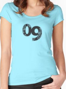 2009 :: retro circles Women's Fitted Scoop T-Shirt
