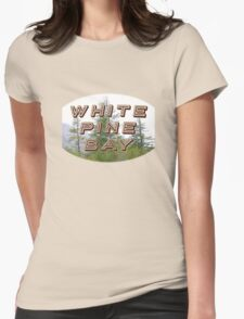 """Bates Motel """"White Pine Bay"""" Womens Fitted T-Shirt"""