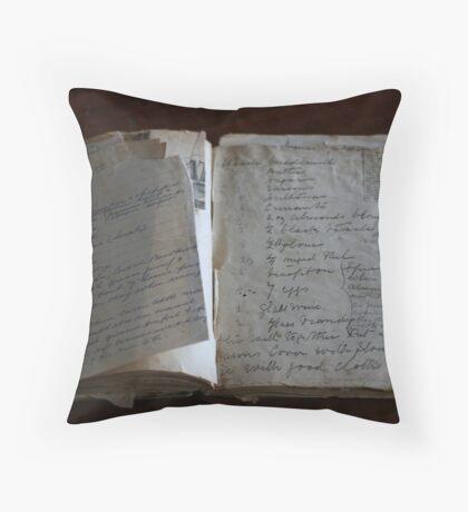 Nannie's Recipe book Throw Pillow