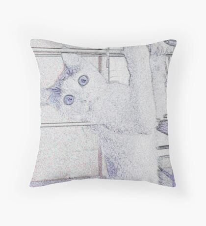 Hanging Pussy Throw Pillow