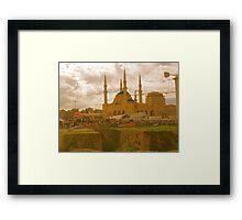 beirut mosque Framed Print