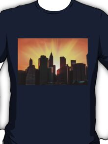 Sunset in New York City T-Shirt