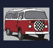 Red Vee Dub Bus Kids Clothes