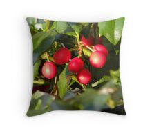 Happy Holly-day! Throw Pillow