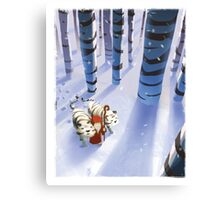 Noah and Tigers Canvas Print