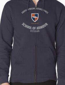 SADF School of Armour Veteran Shirt Zipped Hoodie