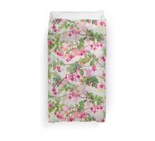Rainbow Fuchsia Floral Pattern Duvet Cover