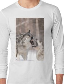 Timber wolves in winter Long Sleeve T-Shirt