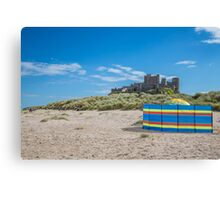 Bamburgh Castle Summers Day Canvas Print