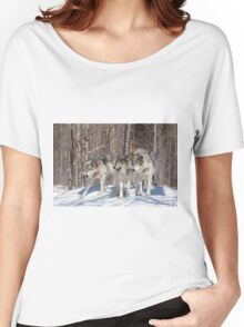 Timber wolves in winter Women's Relaxed Fit T-Shirt