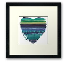 Stop Listening to the Static - Abstract Heart Framed Print