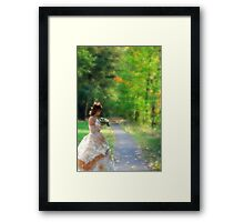 Looking back to the past! Framed Print
