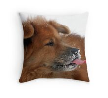 CATCHING SNOWFLAKES Throw Pillow