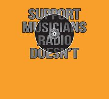 Support Musicians Radio Doesn't Womens Fitted T-Shirt