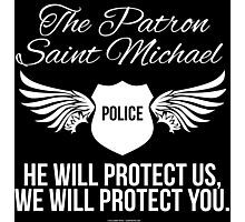 Patron Saint Michael Police Protect Limited Edition Photographic Print