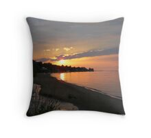 Lake Ontario Sunset Throw Pillow