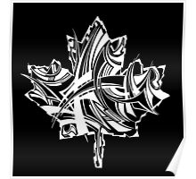 Maple Leaf White Poster
