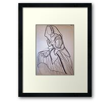 CLOTHED FIGURE DRAWING 5 Framed Print