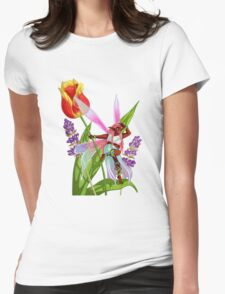 Rain faerie - background v.3 Womens Fitted T-Shirt