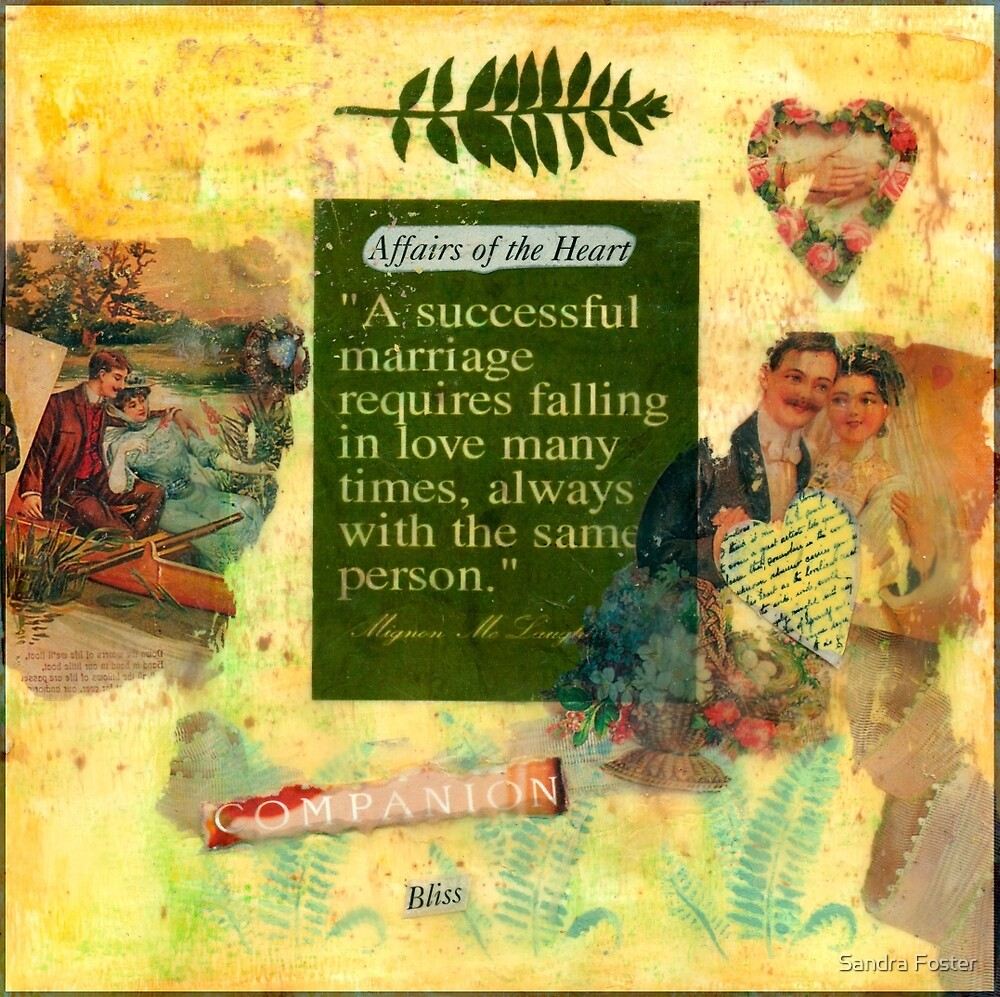 """A Successful Marriage"" Collage  by Sandra Foster"