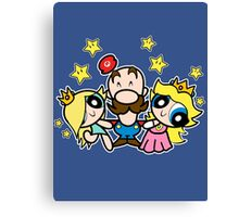 Super Mario Puff Bros Canvas Print
