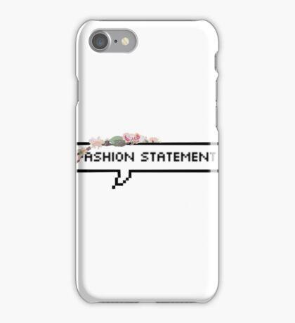 Ironic fashion statement iPhone Case/Skin