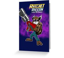 Ratchet Racoon Greeting Card