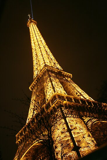 Eiffel Tower at Night by Tarryn Godfrey
