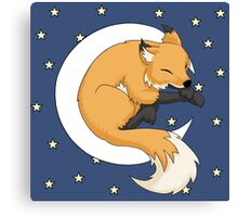 Fox Nap Canvas Print
