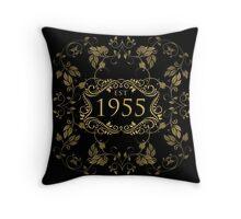 1955 Birth Year Throw Pillow