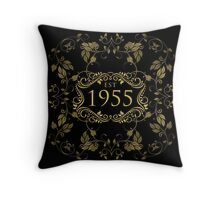 1955 Birth Year Throw Pillow