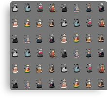 Daleks in Disguise Pattern Canvas Print