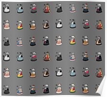 Daleks in Disguise Pattern Poster