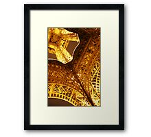 Looking Up Eiffel Tower Framed Print