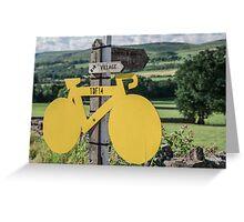 Tour De France Yorkshire Greeting Card