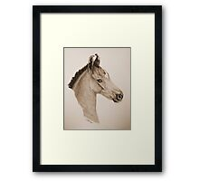 """Precious Little One"" - Sepia Framed Print"