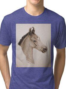 """""""Precious Little One"""" - Sepia Tri-blend T-Shirt"""