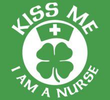 Kiss Me I Am A Nurse St Patricks Day Design by designbymike