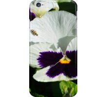 Fly On A Pansy iPhone Case/Skin