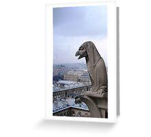 Watching Over Paris Greeting Card
