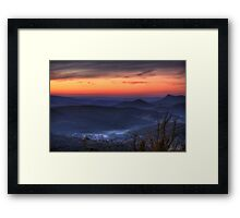 Marysville Autumn Sunset from Keppels Lookout Framed Print
