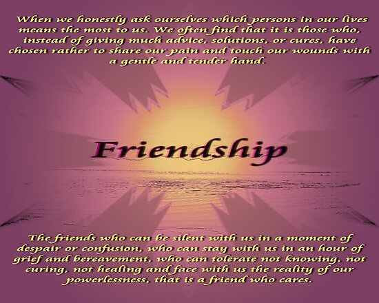 Friendship by Gail Bridger