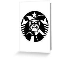 Quinn Coffee (Black) Greeting Card