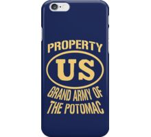 Property Grand Army of The Potomac Gold iPhone Case/Skin