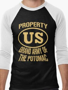 Property Grand Army of The Potomac Gold Men's Baseball ¾ T-Shirt