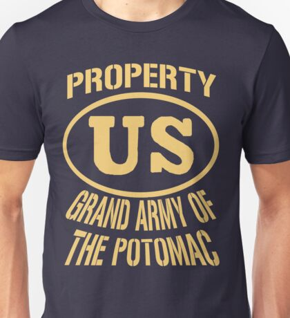 Property Grand Army of The Potomac Gold Unisex T-Shirt