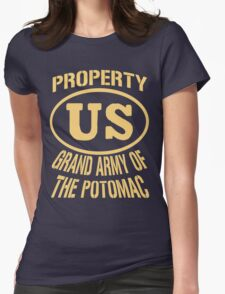 Property Grand Army of The Potomac Gold Womens Fitted T-Shirt