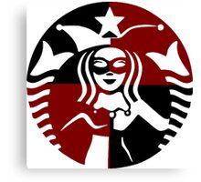 Quinn Coffee (Black+Red) Canvas Print