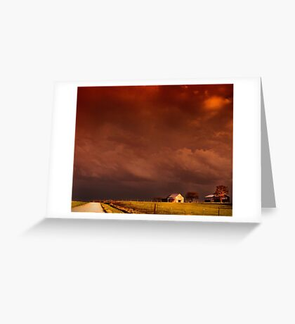heavy skies Greeting Card